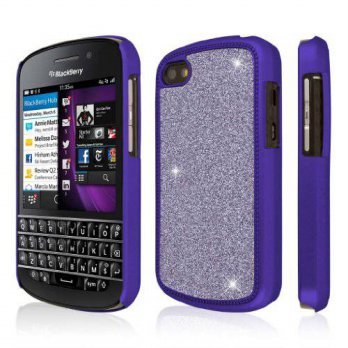 [holiczone] Blackberry Q10 Purple Case, EMPIRE GLITZ Slim-Fit Case for BlackBerry Q10 - Do/167915