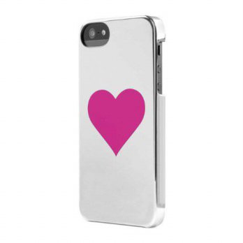 [holiczone] Incase Designs Incase Heart Snap Case for iPhone 5 - Retail Packaging - Silver/146374