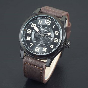 Jam Tangan Pria / Cowok Timberland Watch Leather Dark Brown