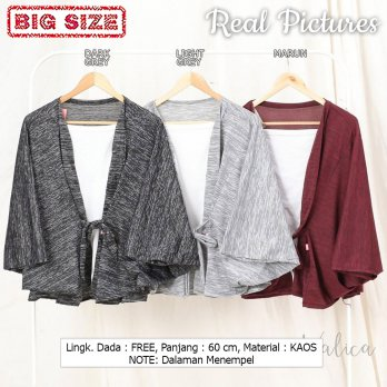 HAMISH Blouse Wanita Batwing Kombinasi Big Size - Jumbo fit up to XXL (2)