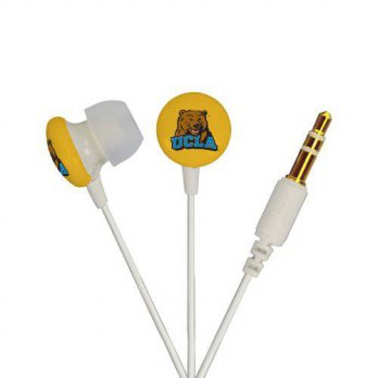[holiczone] AudioSpice NCAA UCLA Bruins Ignition Earbuds, White/304049