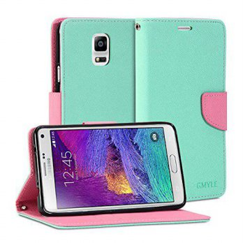 [holiczone] Galaxy Note 4 Case, GMYLE PU Leather Wallet Case Cover with Stand Feature and /146955