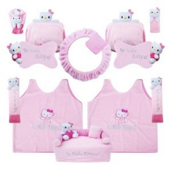 Bantal Mobil Exclusive 8 in 1 Boneka Hello Kitty Pink