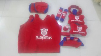 Bantal Mobil Exclusive 8 in 1 Transformers Merah