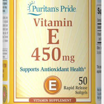 Puritans pride vitamin e 450mg 50 soft gel