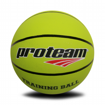 Proteam Basket Rubber Training Ball Green Stabilo 4 Kg