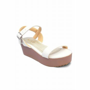 AliveLoveArts Poppin White Wedges