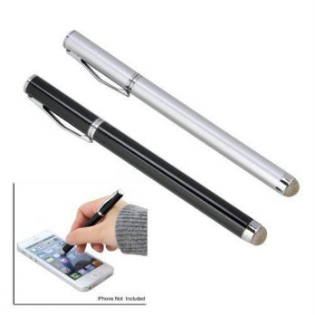 [worldbuyer] GoodBZ 2PCS 2 in 1 Touch Screen Stylus Pen with Soft Nano Fabric, Micro-Knit /2611302