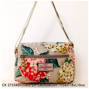 Tas Selempang Wanita Fashion Double Zip Crossbody Bag 2755 - 9