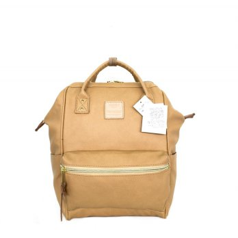 Anello Original Backpack PU Leather Small - mustard