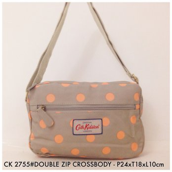 Tas Selempang Wanita Fashion Double Zip Crossbody Bag 2755 - 11