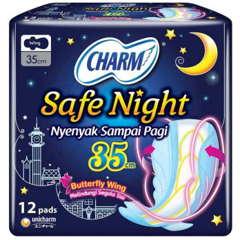 Charm Safe Night Wing 35 cm 12 Pads
