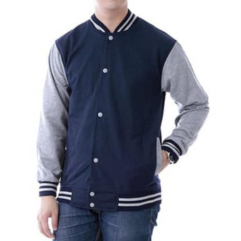 JAKET POLOS BASEBALL NAVY LIST ABU ! SWEATER BASE BALL