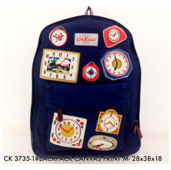 Tas Ransel Fashion Backpack Canvas Print M 3735 - 6