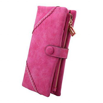 [Macyskorea] PGXT Womens Multifunction Long Leather Clutch Card Holder Purse Wallet Rosere / 11957613