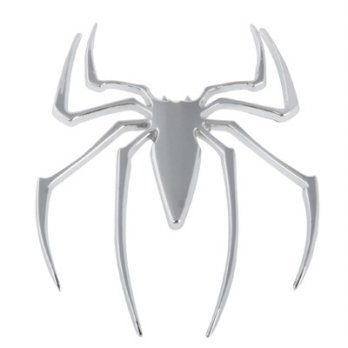 Metal spider style chrome badges