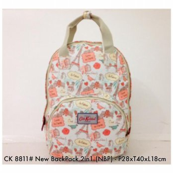 Tas Wanita Fashion Backpack 2 in 1 NBP 8811 - 3