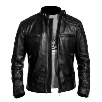 JAKET DAVID BECHAM SEMI KULIT PRIA CASUAL|Biker|LEATHER