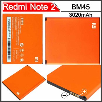Baterai Xiaomi Redmi Note 2 Batre Ganti Pengganti Redmi Note2 Prime BM45 Replacement Battery 3020mAh