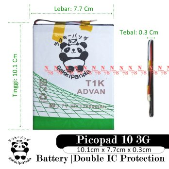 Baterai Axioo Picopad 10 3G Tablet T1K Double IC Protection