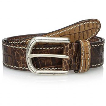 [Macyskorea] Bolliver Mens Printed Croc Belt, Honey, 34 US / 11962914