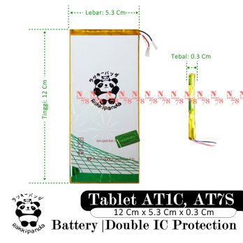 Baterai Evercoss AT7S Tablet AT1C Double IC Protection