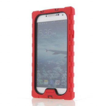[holiczone] Hard Candy Cases SD-SAMS4-RED-BLK Shock Series Ruggedized Case for Samsung Gal/100316