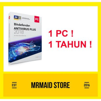 Bitdefender Antivirus Plus 2018 1 PC 1 Tahun