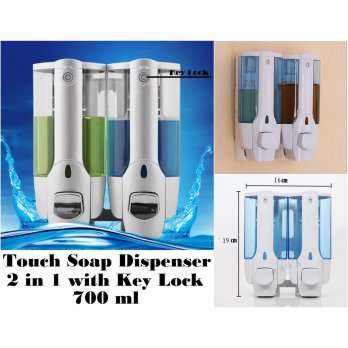 Touch Dispenser Sabun Cair 2 in1 with Key Lock