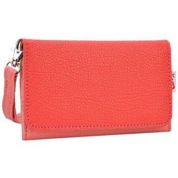 [holiczone] Kroo Clutch Wristlet Wallet for 4-Inch Smartphones - Retail Packaging - Pink a/155219