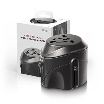[holiczone] Tripshell International TR-Adap-BK Travel Plug Adapter With Surge Protection, /266350