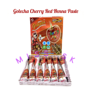 Cherry ] GOLECHA RED CHERRY HENNA CONE Nail Art