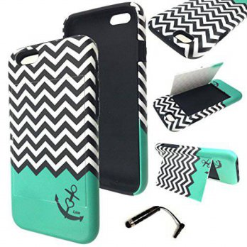 [holiczone] iPhone 6 4.7 Inch Case - Wydan (TM) Hybrid Credit Card Case Flip Stand Cover F/318590