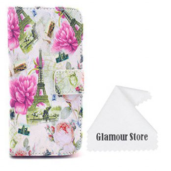 [holiczone] Tory iPhone 6 Case,Flower Leather Wallet Flip Protective Skin Case Cover with /139048