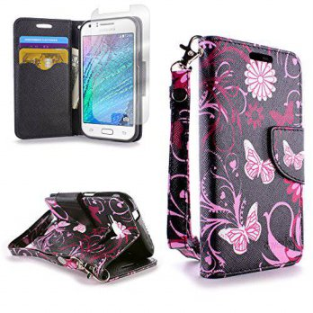 [holiczone] Galaxy J1 Case (Verizon only), Flip Stand Wallet [CoverON CarryAll Pouch] Toug/1669521