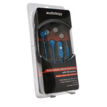 [holiczone] Audiology AUDIOLOGY AU-EPM20-BU In-Ear Stereo Earphones with Microphone for MP/283210