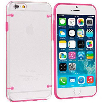 [holiczone] Accessory Planet(TM) Hot Pink Crystal Transparent Clear Hard Hybrid Case Cover/313660