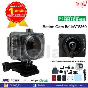 ACTIONCAM BELLAV V360 WIFI 360 DEGREE ANGLE LENS