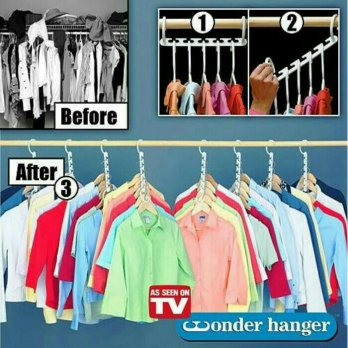 Magic Hanger/  Wonder Hanger/  Hanger Gantungan Baju Ajaib 1 Set Isi 8 Pcs