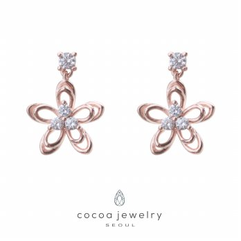 Korea Cocoa Jewelry Spring Flower - Anting RoseGold