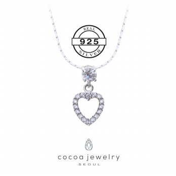 Korea Cocoa Jewelry Fall Romance - Kalung Real Silver