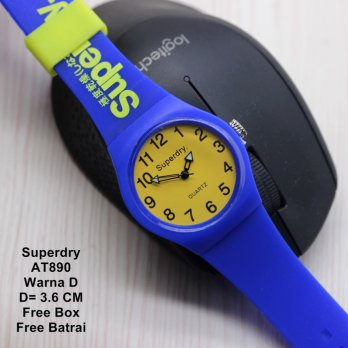 Jam Tangan Wanita / Jam Tangan Murah Superdry Tecry Blue Yellow Color
