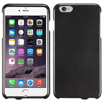[holiczone] MyBat iPhone 6 Plus Carbon Fiber Phone Protector Cover - Retail Packaging - Bl/318553