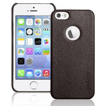 [holiczone] iPhone SE Case, iPhone 5S case, iPhone 5 Case, INVELLOP Chocolate Brown Leathe/319207
