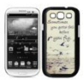 [holiczone] SANOXY Sometimes You Gotta Fall Quote Ocean Samsung Galaxy S3 SIII i9300 Case /333497