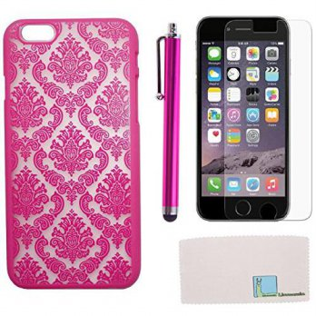 [holiczone] Llamamia Iphone 6 Plus Case Cover, Baroque Retro Court Lace Pattern Texture Ha/336052