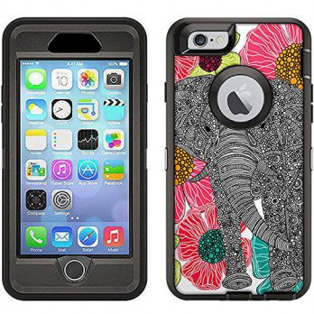 [holiczone] TrekSkins Skin Decal for Otterbox Defender iPhone 6 Case - Elephant In Grovela/343638