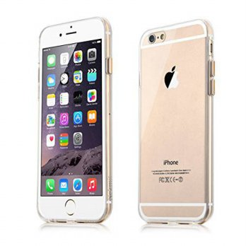 [holiczone] Nekmit Scratch Resistant Clear Hard Case with Aluminum Buttons for iPhone 6 (G/86471