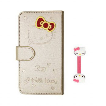 [holiczone] Euclid+ - Gold Adorable Hello Kitty Cover Skin Case Style PU Leather Case Cove/87441