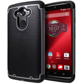 [holiczone] Motorola DROID Turbo Case, Cimo [Shockproof] Heavy Duty Shock Absorbing Dual L/87075